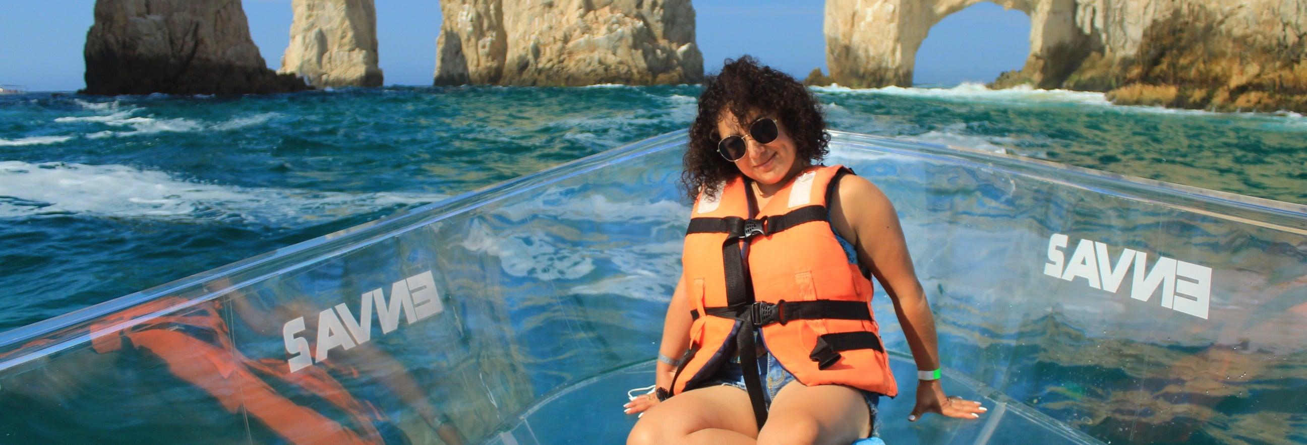 Passeio de barco transparente por Los Cabos