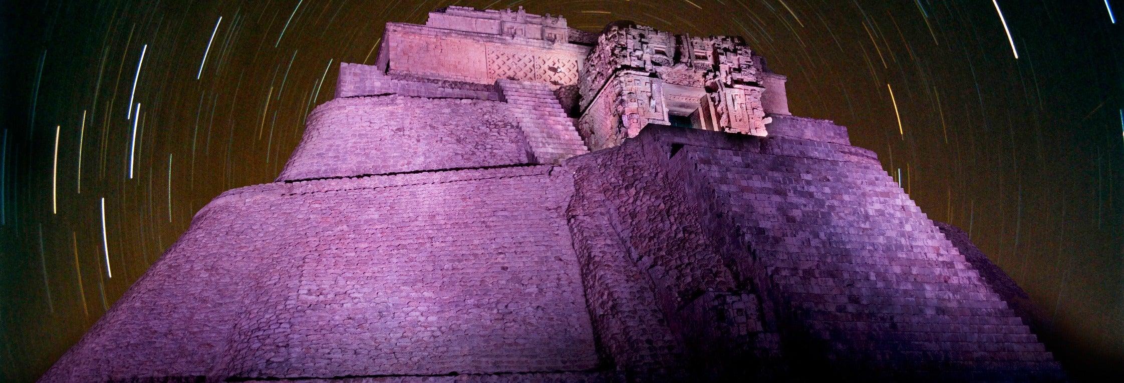 Espectáculo de luz y sonido en Uxmal