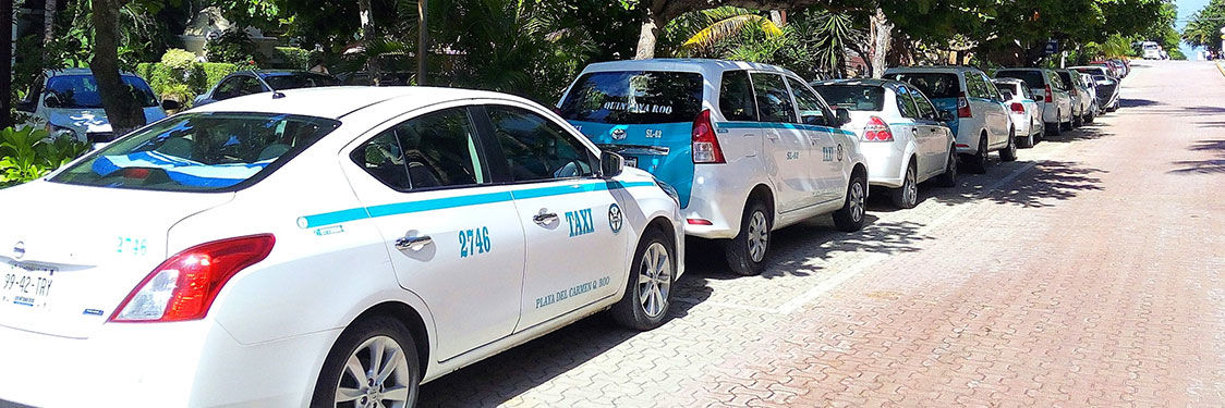 Taxis en Riviera Maya
