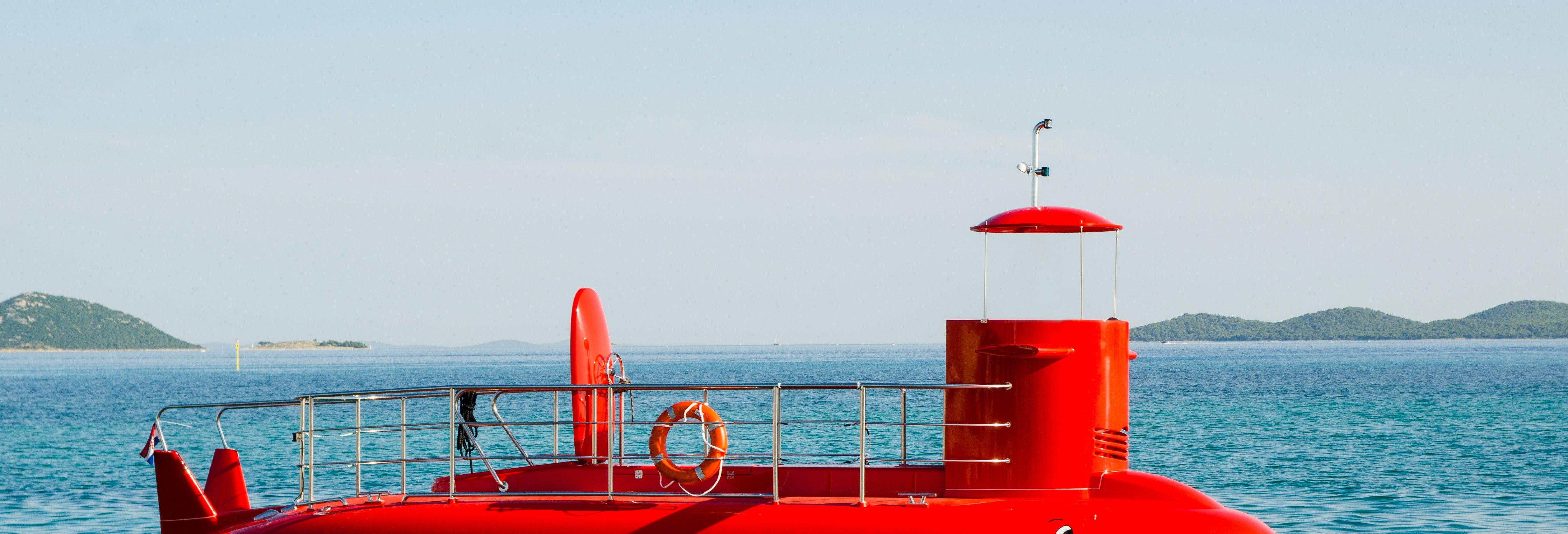 Balade en bateau à vision sous-marine dans la baie de Kotor
