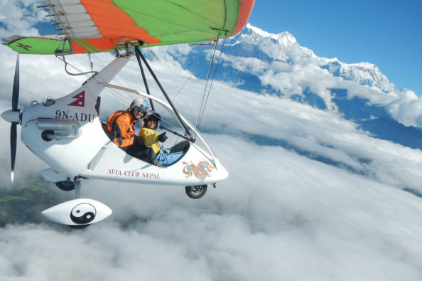 Soaring over the peaks of Nepal in an ultralight