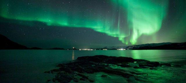 Crociera dell'aurora boreale con cena
