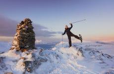 Passeggiata con le racchette da neve