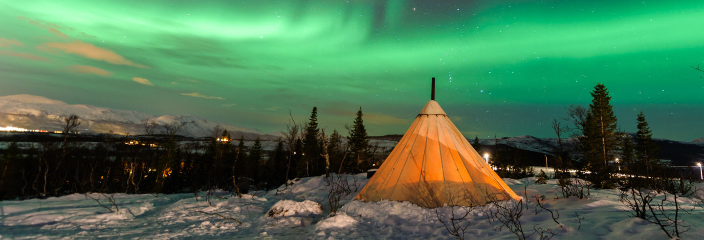 Tour da aurora boreal por Tromsø