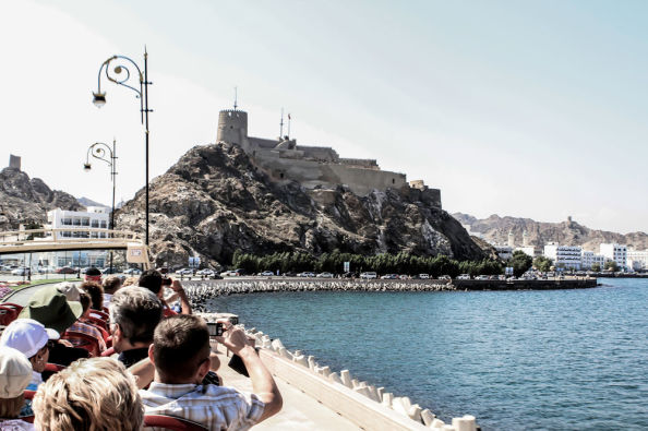 Sightseeing bus in Muscat