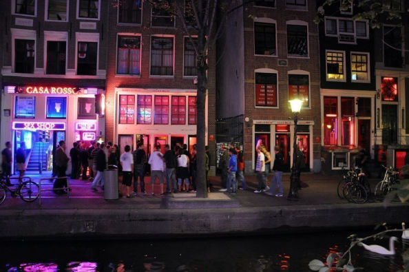 Shopfronts in the Red Light District