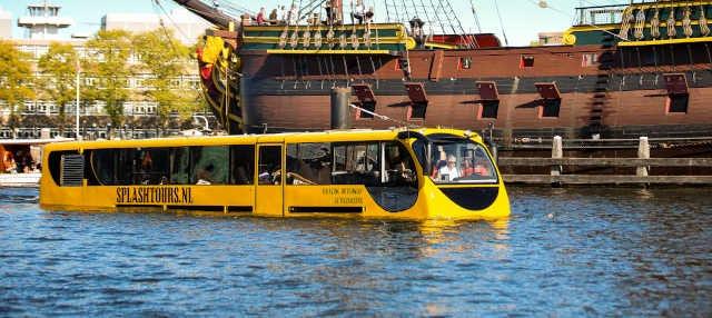 Tour en autobús anfibio por Ámsterdam