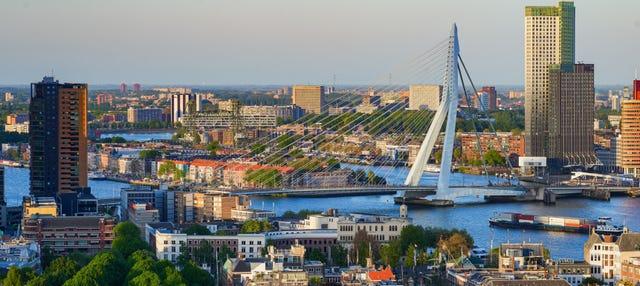 Paseo en barco por el puerto de Róterdam