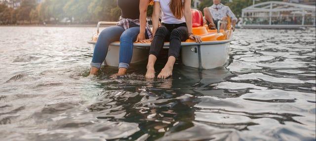 Alquiler de barca a pedales