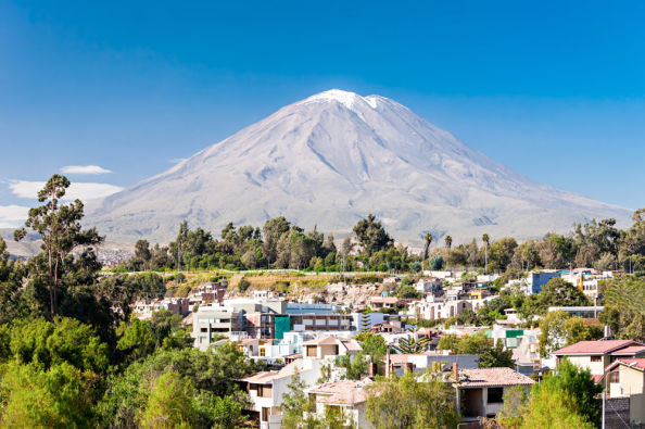 Arequipa and the Misti Volcano from the Yanahuara viewpoint
