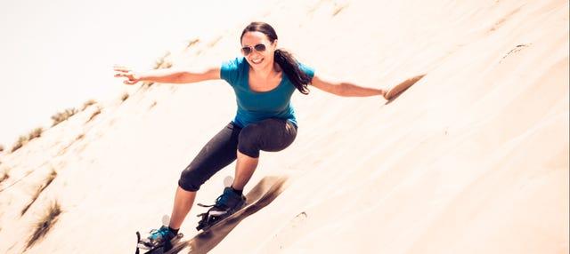Sandboarding en el desierto de Chilca