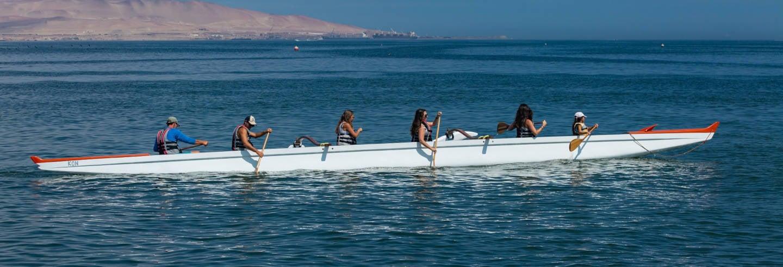 Tour della baia di Paracas in canoa polinesiana