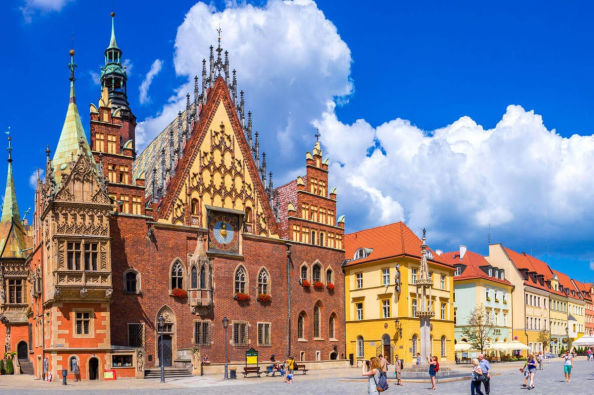 The Old Town Hall in Wroclaw's Market Square