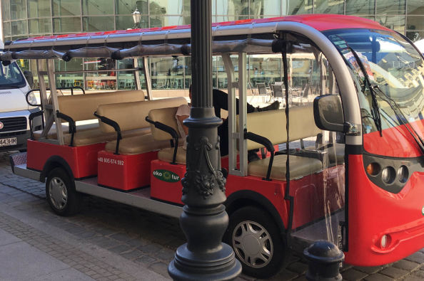 Electric minibus in Wroclaw