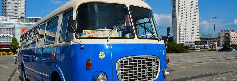 Tour panorâmico de ônibus antigo