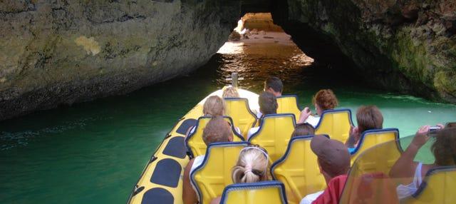 Excursión a las cuevas del Algarve en lancha