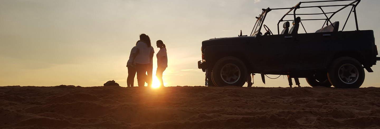 Jeep safari à Albufeira au coucher de soleil