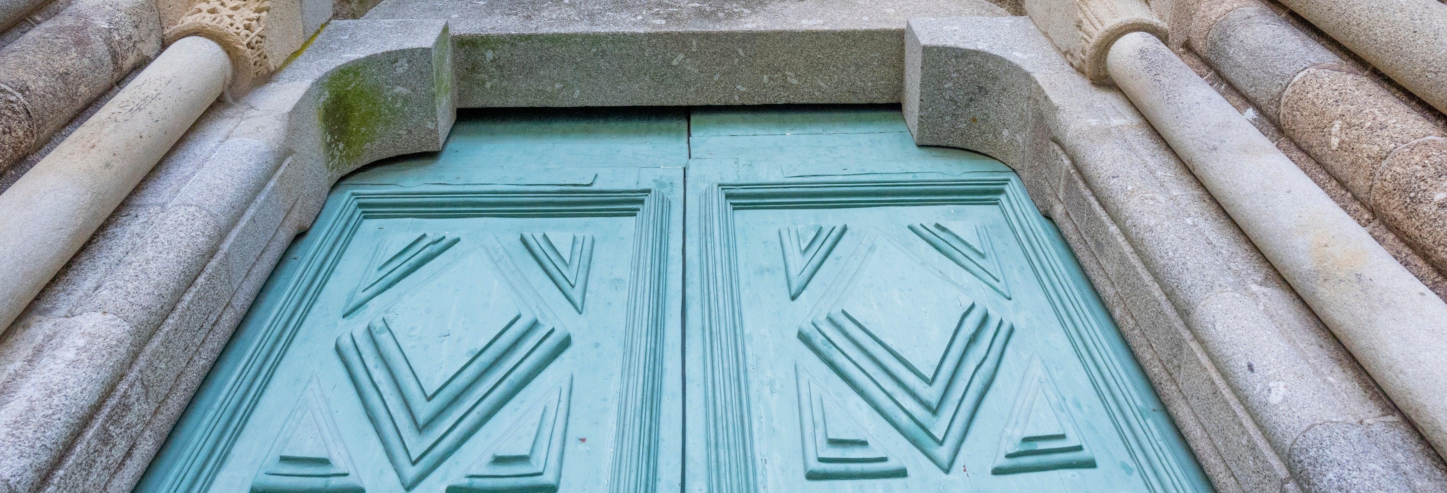 Entrada al monasterio de Santa María de Pombeiro