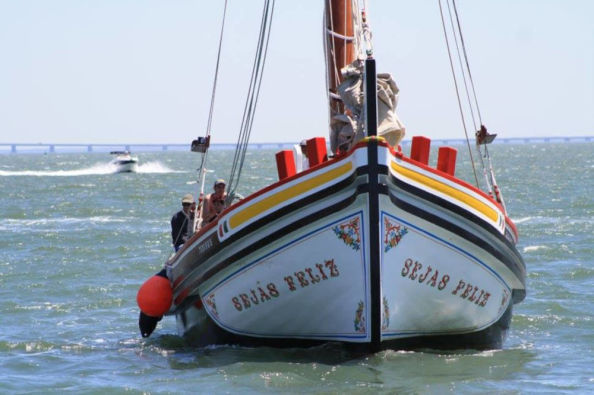 Traditional boat trip along the river Tagus