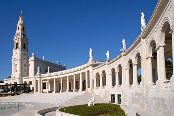 A panoramic view of the Sanctuary of Fatima