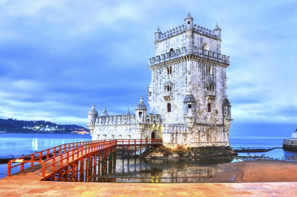 Belém Tower, on the banks of the Tagus River
