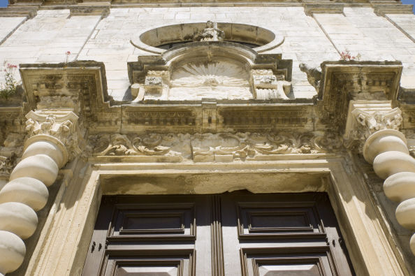 Architectural details of Aveiro Cathedral