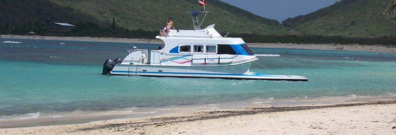 Excursão à ilha Culebra de catamarã