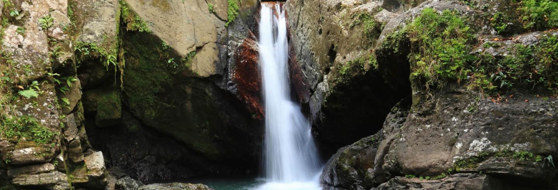 Excursión privada a la cascada Las Delicias y petroglifos de Zama