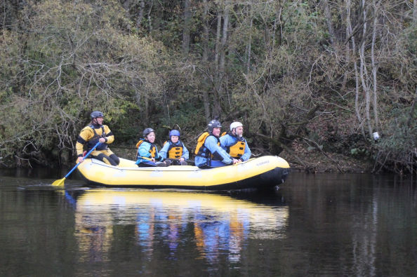 White water rafting on the River Tay