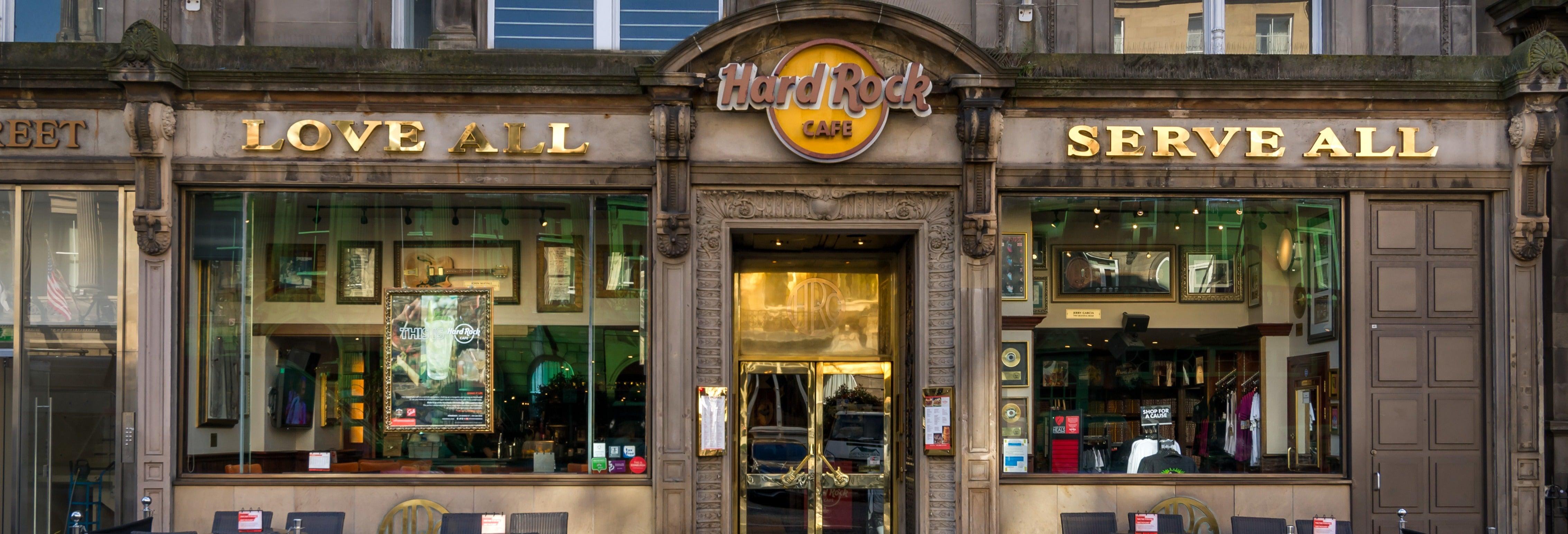 Comida o cena en el Hard Rock Cafe Edimburgo