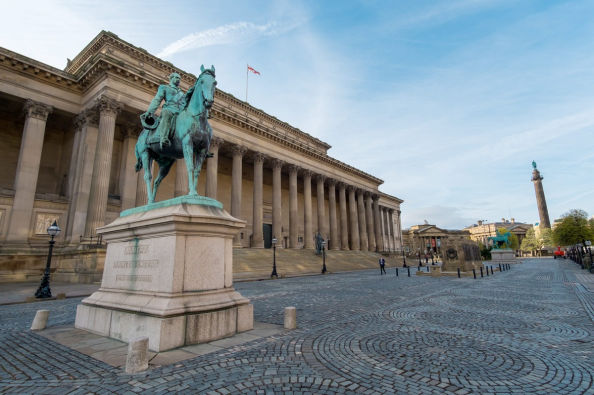 Statue of Prince Albert at St. George's Hall
