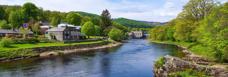 Bugging sur la rivière Tummel