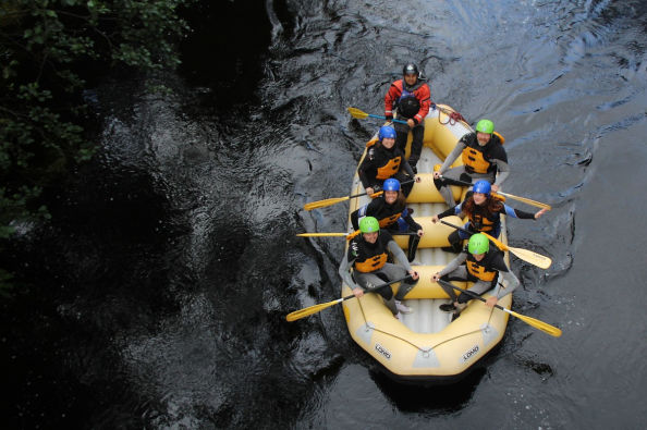 White water rafting on the Tummel in Pitlochry