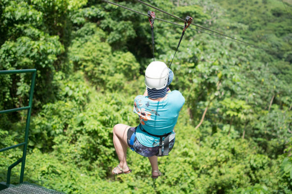 Zip line in the Anamuya mountains