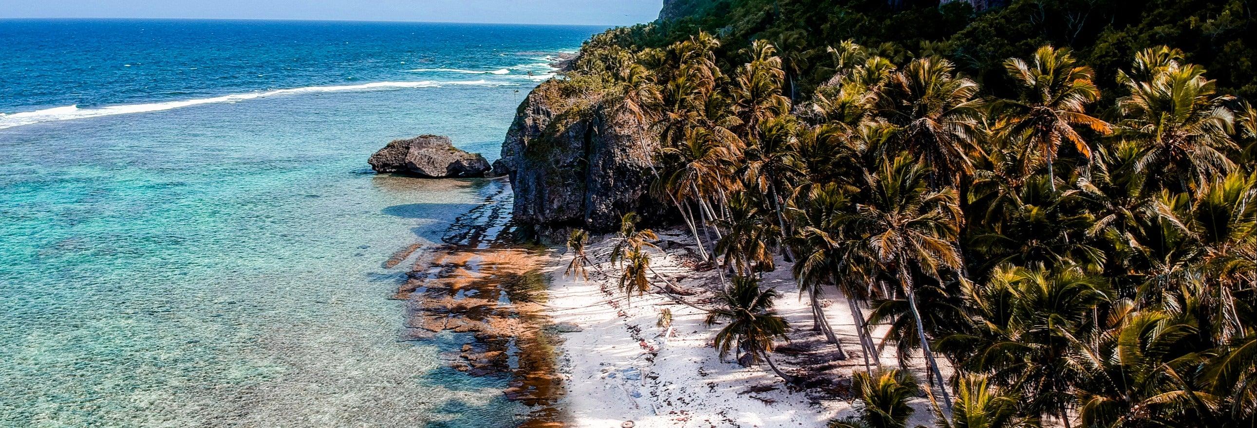 Tour de lancha pelas praias de Samaná
