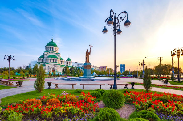 Visite panoramique d'Astrakhan