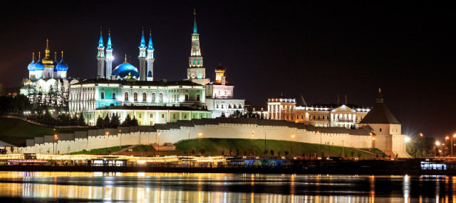 Tour nocturno por el Kazán iluminado