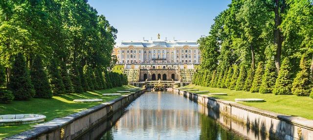 Excursão aos jardins de Peterhof de barco rápido