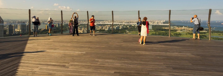 Entrada al mirador de Marina Bay Sands