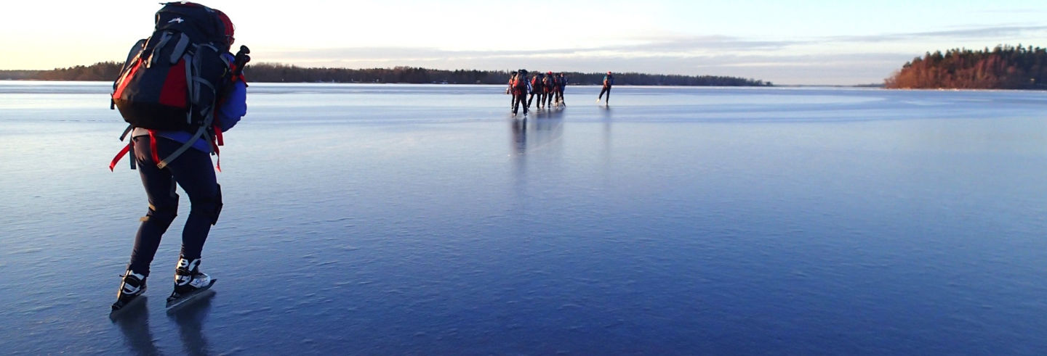 Clase de patinaje sobre hielo en Estocolmo