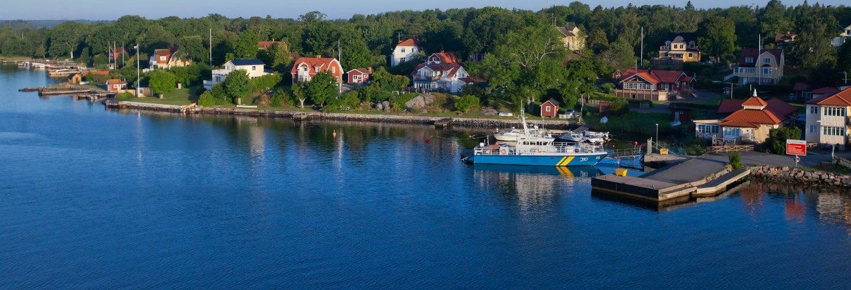 Excursão a Fjäderholmarna por conta própria