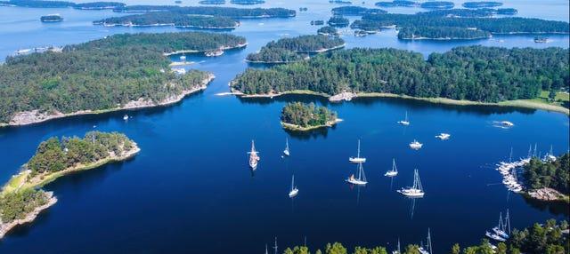 Paseo en barco por el archipiélago de Estocolmo