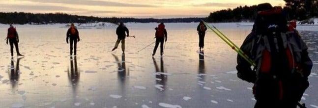 Patinaje sobre hielo en Estocolmo