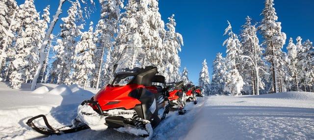 Giro in motoslitta a Kiruna
