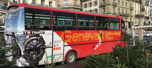 Autobús y tren turístico de Ginebra
