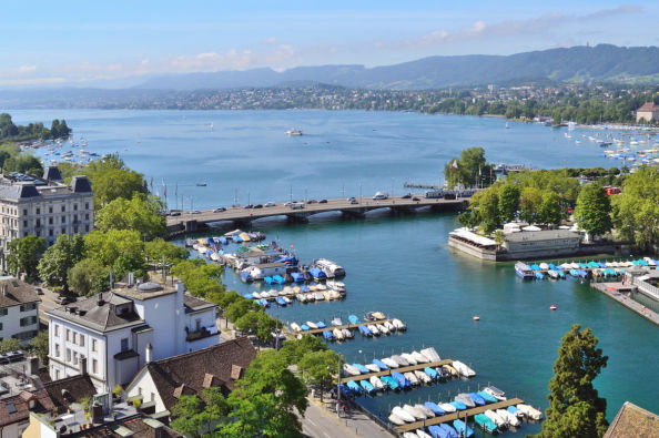 Zurichsee, the city's lake