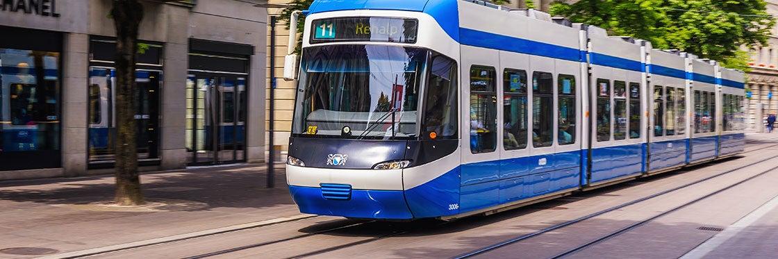 Tram à Zurich