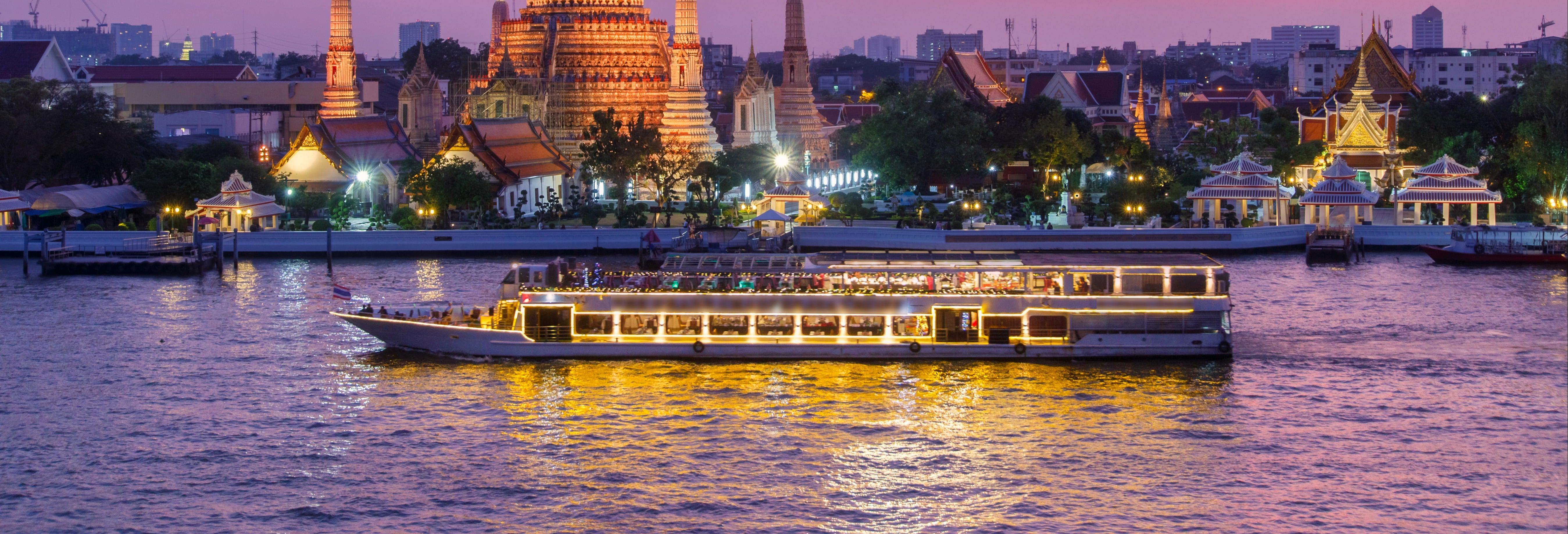 Cruzeiro com jantar pelo rio Chao Phraya