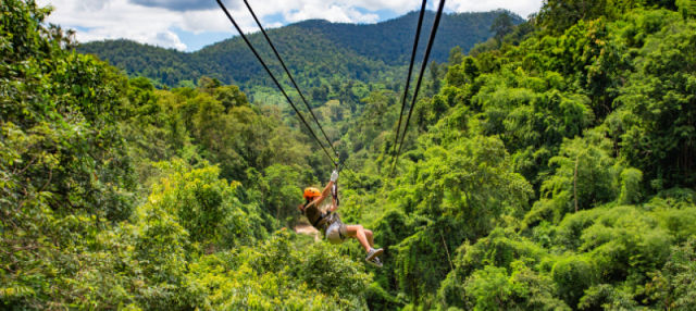 Tirolina en Chiang Mai