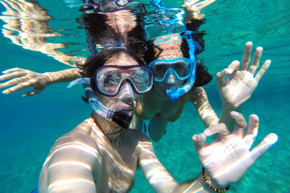 Snorkeing a Koh Tao